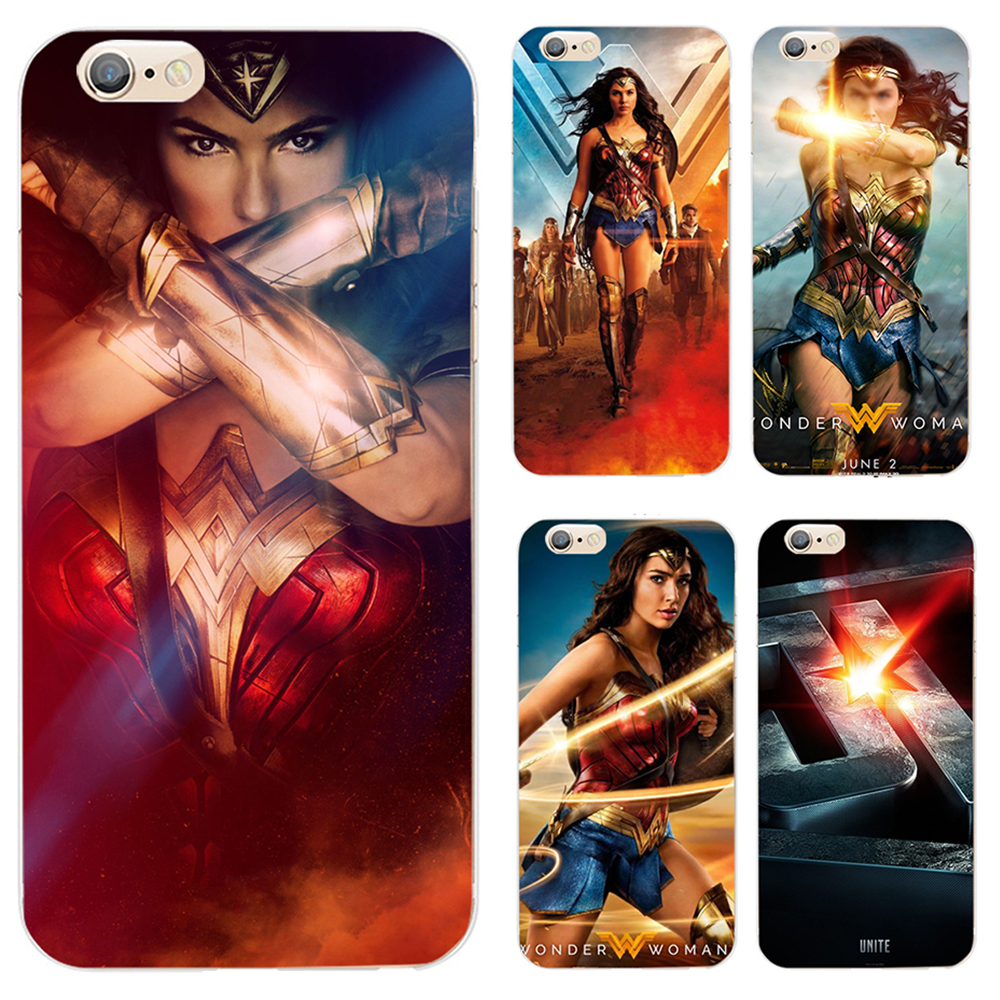 Чехол для Apple iPhone 7 6 s 8 плюс 5 x 4S 6 Чехол Wonder Woman серии роспись ручная роспись Мягкие TPU чехол глянцевый