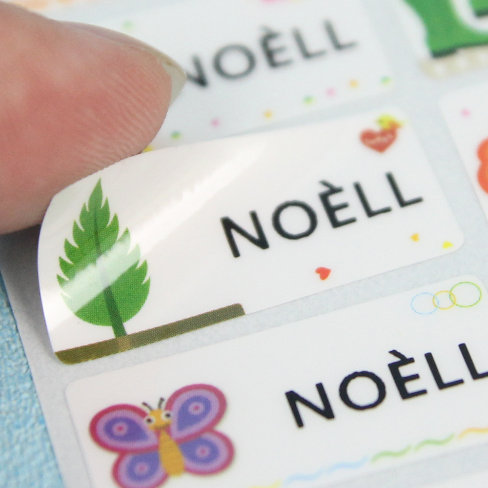 FREE SHIPPING Multi Size Name Stickers Waterproof Labels Stationery Sticker Customized Decals Business Tags Children Stickers
