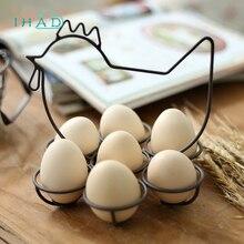 Iron art Egg basket organizer rack for home storage holder creative eggs organizer kitchen decoration Kitchenware