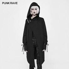 Punk Rave Gothic Black Cotton Fashion Cardigan Witches Sweater Women Coat Jacket Cloak Visual Kei Windbreaker