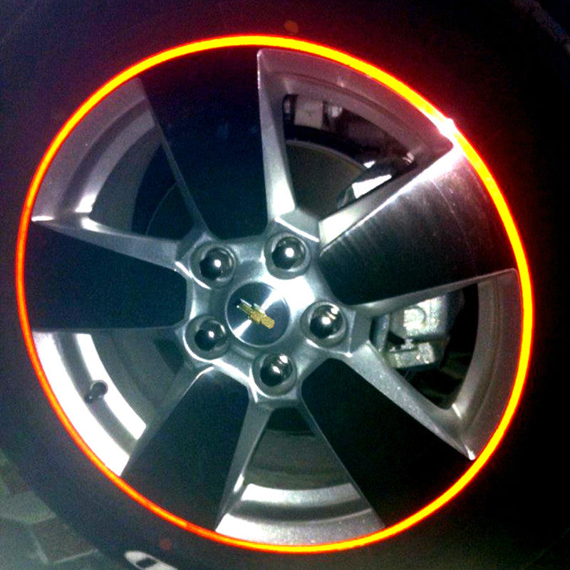 16 Strips 3m High Quality Reflective Car Motorcycle Rim Stripe Wheel Decal Tape Stickers In