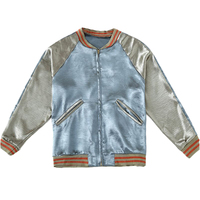 Plus Size Women Spring Autumn Bomber Jacket Korean Harajuku Tops Casual Loose Baseball Blue gray Short Splice Streetwear Coat
