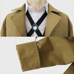 Image 4 - 분고의 길 잃은 개 의상 형사 기관 오사무 다자이 코스프레 망 트렌치 코트 2019 새로운 패션 디자이너 남자 롱 코트