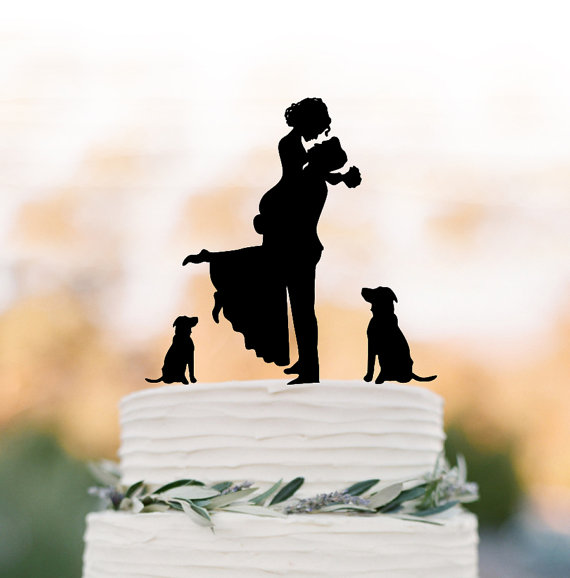 Unique Wedding Cake Topper Dog Toppers With Groom Lifting Bride Funny