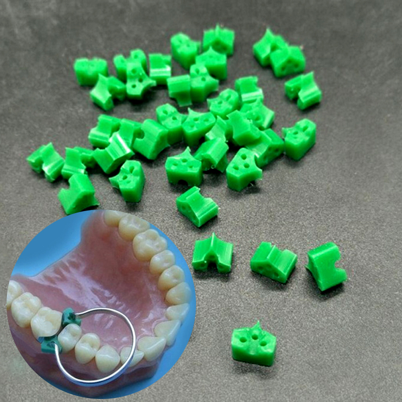 40pcs/Pack Dental Silicone Add On Special Wedges Rubber TOR VM Delta Ring Tine  No 1.861 Dental Material Dental Lab Instrument