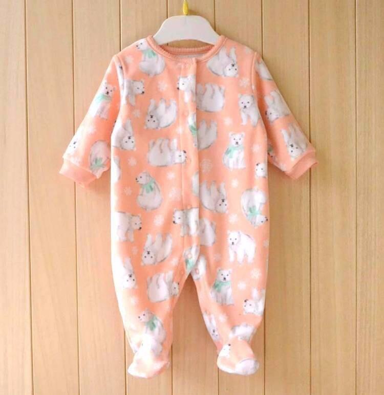 Cute Pink Baby Girl Rompers