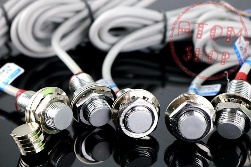 цена на 5Pcs M12 DC NPN NC 12mm Detection distance hall effect magnetic sensor NJK-5002D