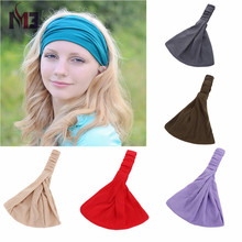 Fashion Women Cotton Headband Rubber Band Wide Soft Hair Head Cover Accessories Turban for