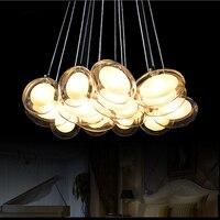Современный творческий гусиных яиц стеклянный шар LED люстра персонализированные спальни романтический ресторан подвесной светильник Бар