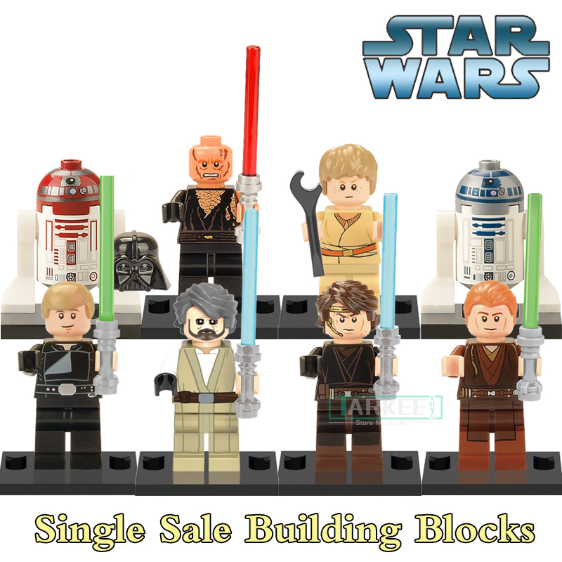X0124 Educational Blocks Anakin Skywalker Darth Vader Star Wars Luke SuperHero Model Action Figures Bricks Kids DIY Toys Hobbies uniquefire flashlight uf 1405 ir 850nm 67mm lens infrared light night vision torche rat tail perfect for hunting