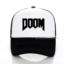 summer new brand fashion Doom Baseball Cap - All Time Great Video Game Unoffical in Mens Cotton Net Trucker Hat