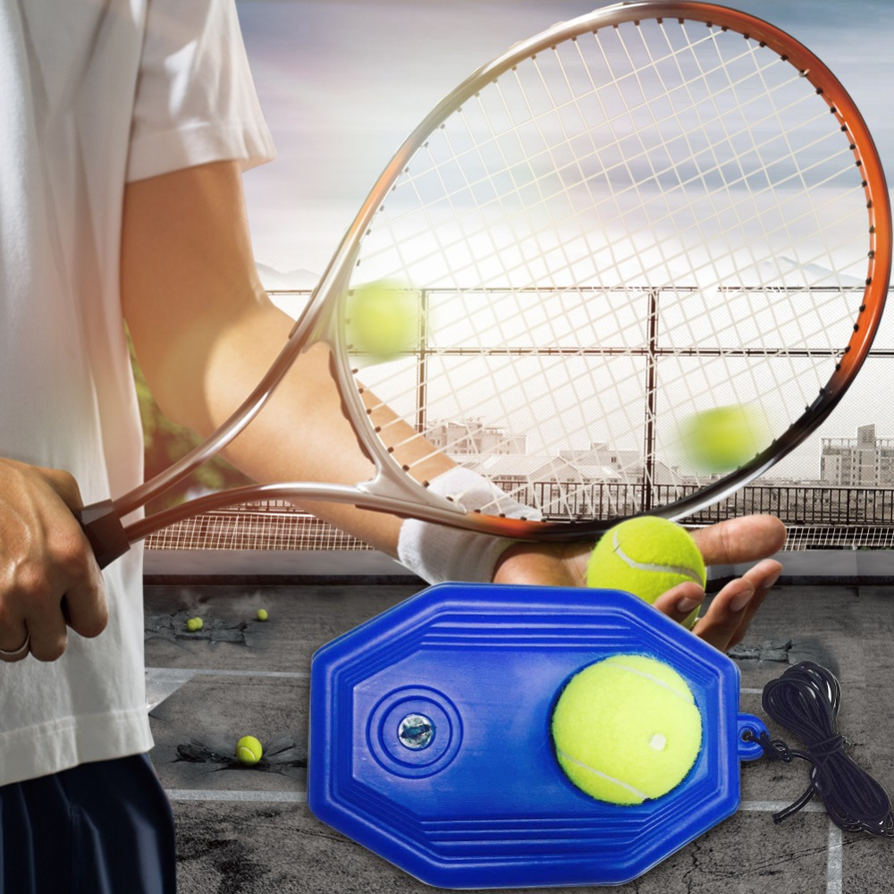 Portable Tennis Training Tool Exercise Tennis Ball Self-study Rebound Ball With Tennis Trainer Baseboard Sparring Device