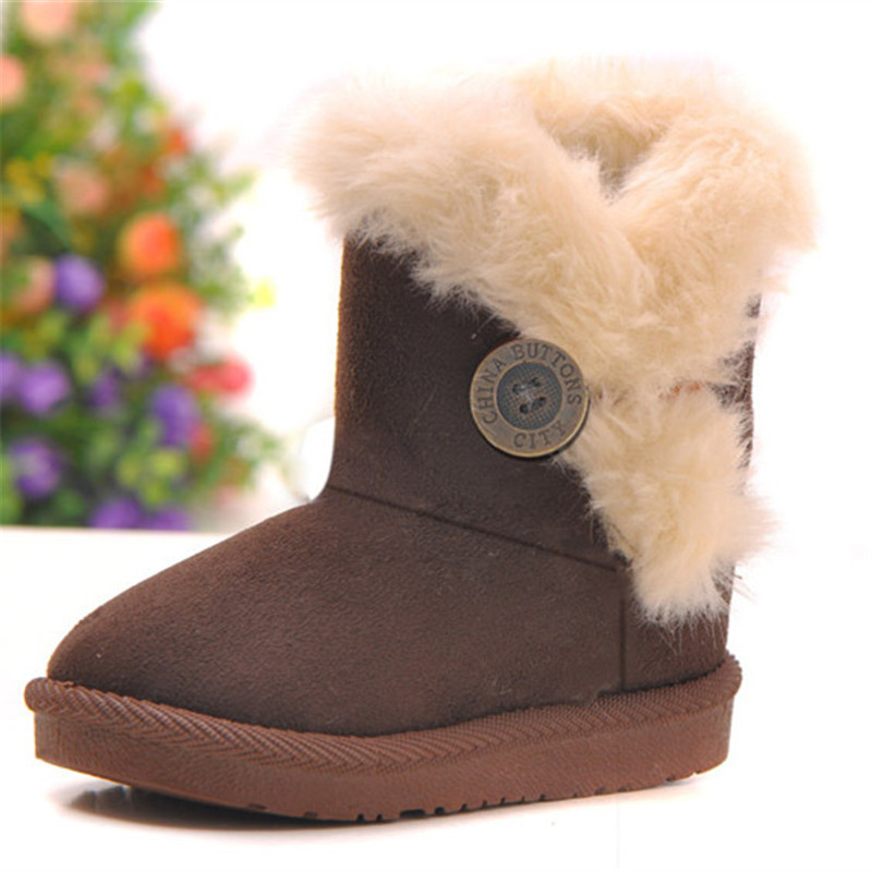 Online Shop 30% OFF Very warm boy Snow boots baby Kids Leather ...