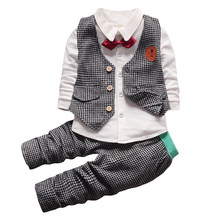Children Clothing 2019 Autumn Winter Toddler Boys Clothes Set 2pcs Casual Outfit Kids Clothes Sport Suit For Boys Clothing Set(China)