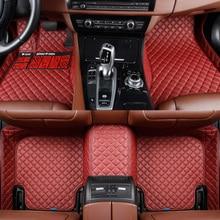 HLFNTF Custom Car floor Mats For Peugeot 308 207 2008 301 307 308sw 3008 408 508 rcz car styling car carpet ксенон kingwood 508 301 3008 2008
