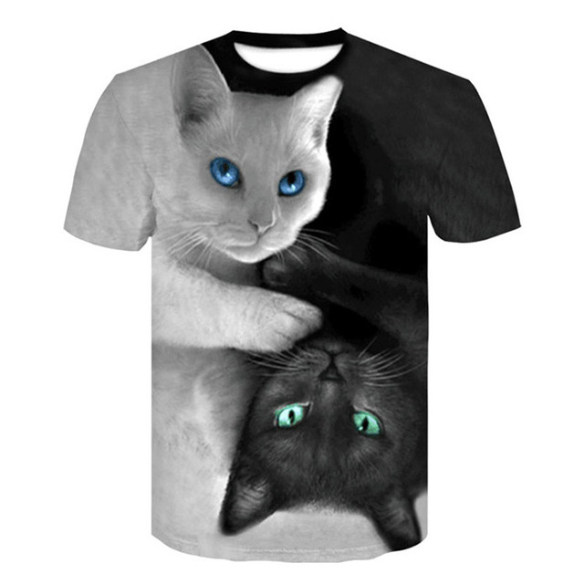 Cats 3D Printed T-shirt Women Men tshirt short Sleeve Casual Men's Fashion High Quality Clothing tees Tops Free shipping XXS-4XL
