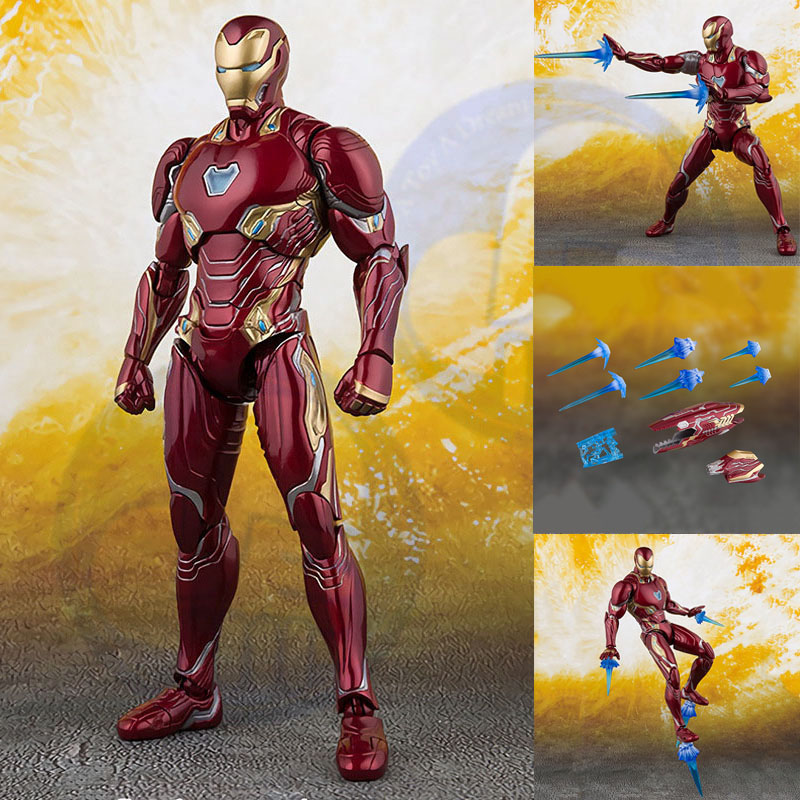 NEW Marvels Select Iron Man MK50 Mark infinity war Armor PVC Action Figure Collectible Model Toy Ironman ACGN figure BrinquedosNEW Marvels Select Iron Man MK50 Mark infinity war Armor PVC Action Figure Collectible Model Toy Ironman ACGN figure Brinquedos