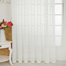 Jacquard Sheer Window Curtain Pastoral Style Interior decoration home Tulle Curtains for Living Room Single Panels (B607)
