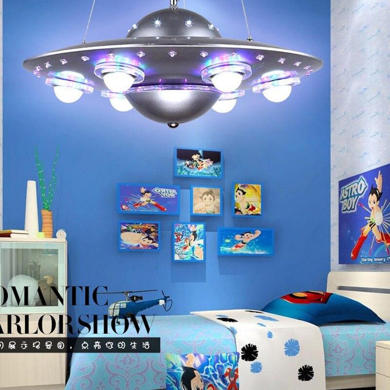 Ufo crianças quarto pingente lightslampadario bambini abajur infantil quarto lustre para crianças babyroom deco enfant chambre - 3