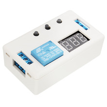 New Arrvial 1PCs LED Automation Delay Timer Control Switch Relay Module Time Switch 12V With Case Hot Sale