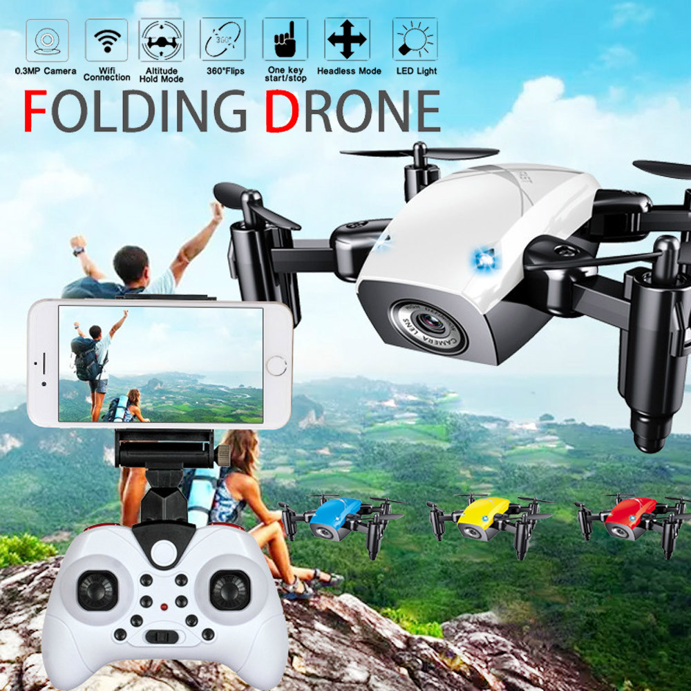 Drone Profissional Mini S9HW Altitude Hold 0.3MP HD Camera 6Axis Foldable WIFI RC Quadcopter Pocket Drone With Camera HD Gps