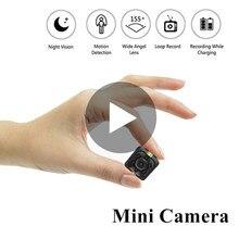 Minicámara secreta SQ11 SQ 11, videocámara pequeña inteligente 1080p HD, cuerpo de visión nocturna, grabadora de microcámara encubierta