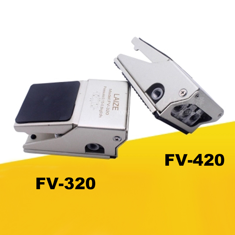 High Quality FV320 Air Pneumatic Foot Pedal Valve Switch FV 320 FV 420 Manual Valve with Fittings Foot Pressure Control FV420-in Pneumatic Parts from Home Improvement