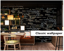 beibehang Letter wall paper nostalgic stereo personality fashion bedroom coffee restaurant clothing store papier peint wallpaper