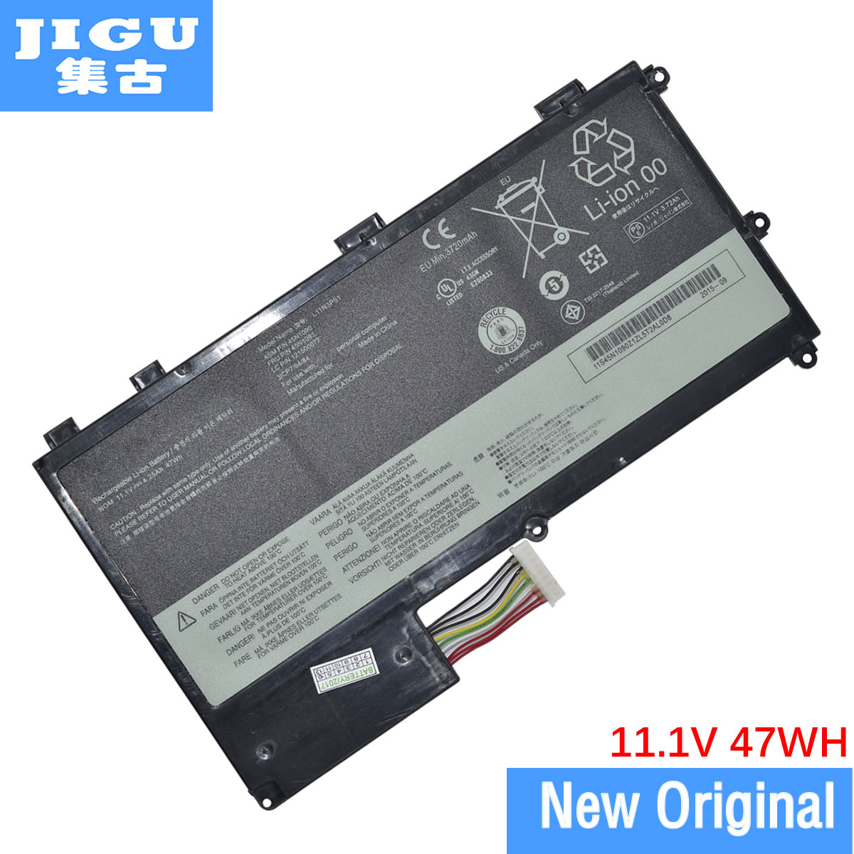 JIGU 45N1088 45N1089 45N1090 45N1091 L11N3P51 L11S3P51 Original Laptop Battery For <font><b>Lenovo</b></font> ThinkPad <font><b>T430u</b></font> Ultrabook image