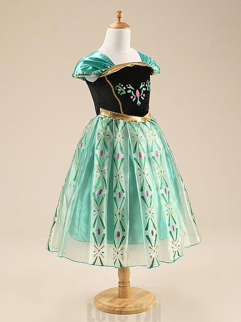 2018New Summer dress anna elsa disfraz princess sofia dress infantil fever elza costume vestido rapunzel jurk disfraces Clothing 3