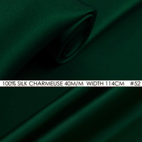 SILK CHARMEUSE SATIN 114cm Width 40momme 100 Pure Silk Fabric Meter Heavy Silk 172g M2 Silk