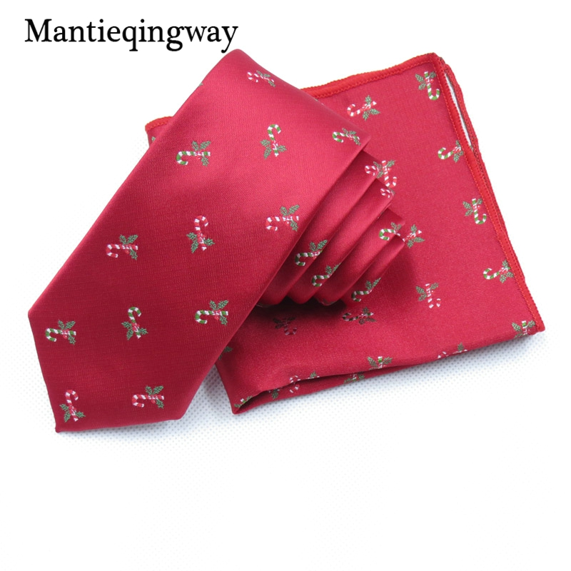 Mantieqingway Formal Business Tie Handkerchiefs Sets Neckties Ties for Mens Fashion Wedding Tie Slim Gravatas Christmas Gifts