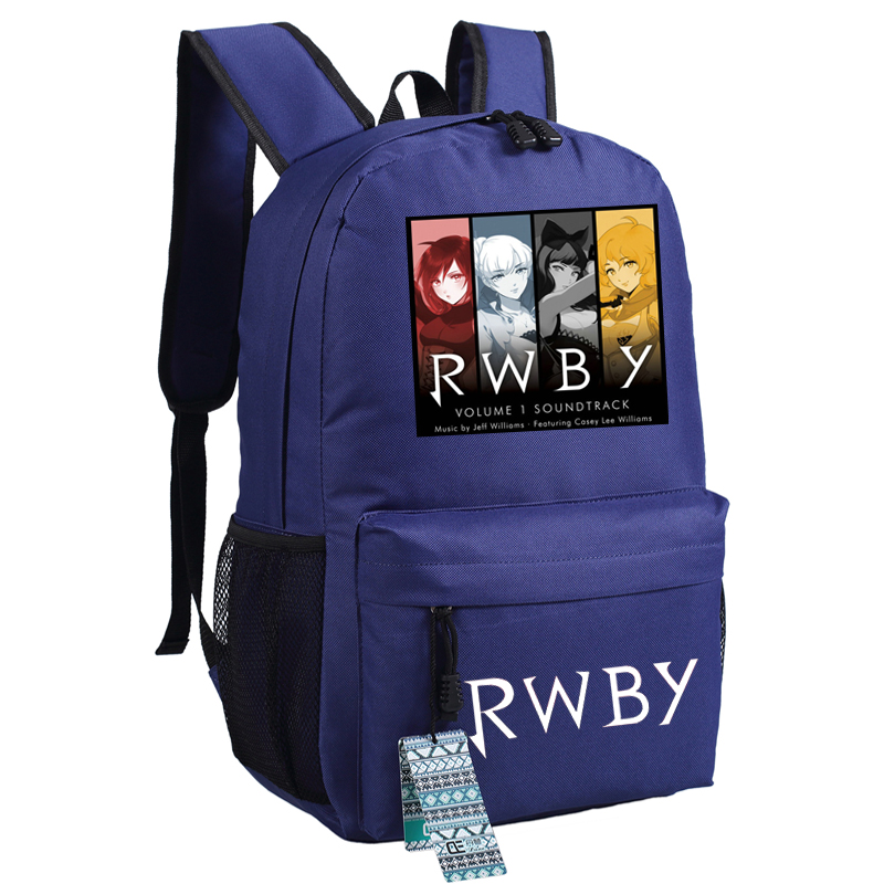 High Quality Anime Rwby Ruby Rose Cosplay Women Printing Backpack Canvas School Bags Fashion Laptop Female Backpack Rucksack #5