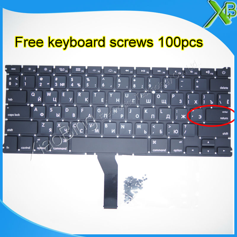 Brand New For MacBook Air 13 3 A1369 A1466 Small Enter RS Russian keyboard 100pcs keyboard