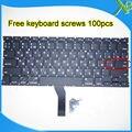 """A Estrenar Para Macbook Air 13.3 """"A1369 A1466 teclado Ruso 100 unids teclado Pequeño Entrar RS tornillos 2010-2015 Años"""
