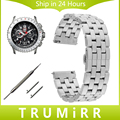 De liberación rápida de acero inoxidable venda de reloj 20mm 22mm para luminox hombres mujeres butterfly correa de hebilla de pulsera pulsera de la correa negro plata