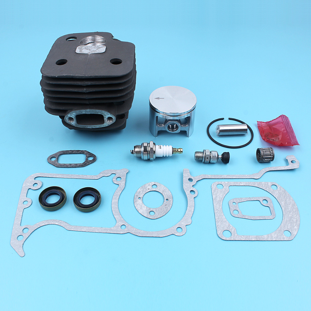 52mm Cylinder Piston Gasket Kit For HUSQVARNA 272 272XP 272K 268 61 Chainsaw W/ Spark Plug Vavle Oil Seal Needle Bearing Replace 52mm cylinder barrel & piston assembly fits husqvarna 268 272 chainsaw part