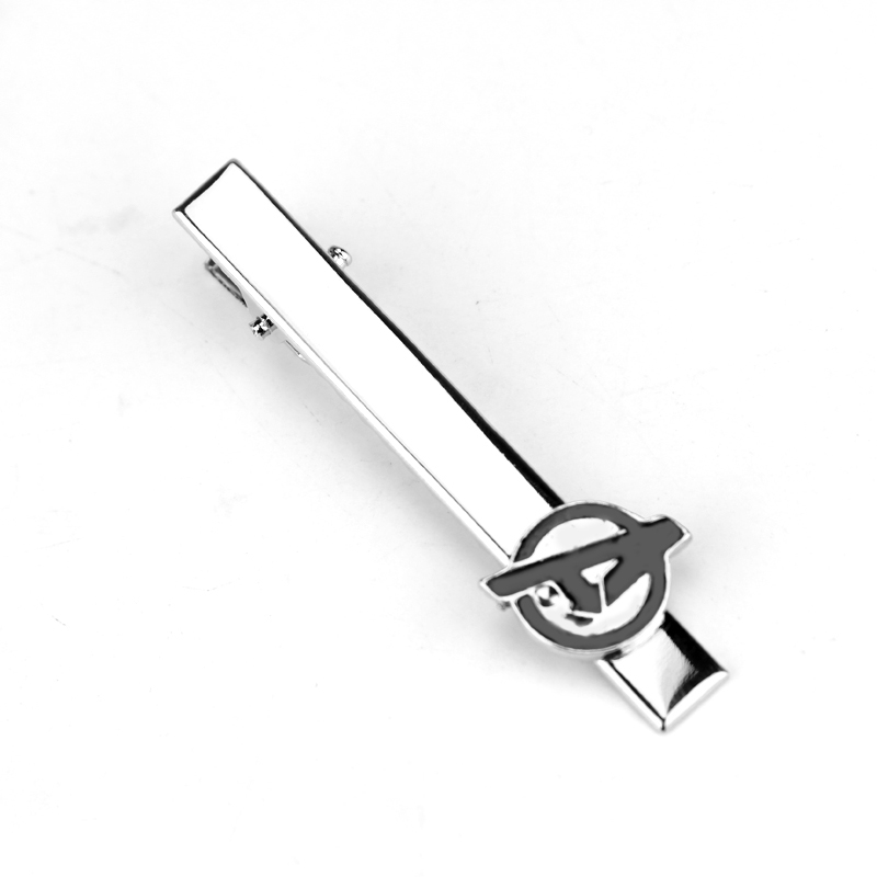 Movie Jewelry Marvel The Avengers Logo A Letter Black Enamel Tie Clips Shirt Brand Cuff Buttons Cufflinks Men Gift-40