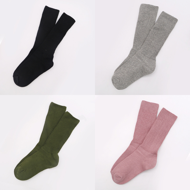 1Pair Womens Fashion Casual Solid Color Long Sock 5