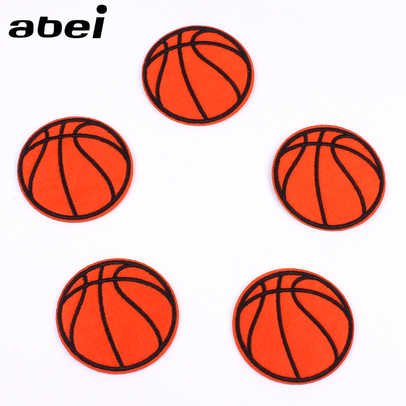 10pcs/lot Embroidery Basketball Patch for Jeans Backpack Shoes Coats DIY Iron On stickers Clothes motif Badge Clothing appliques