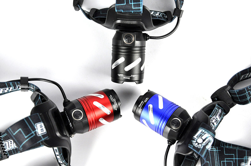 Boruit led light Rechargeable headlight High power head lamp Flashlight Headlamp 1000 Lumens Headlamps power by 3x AAA batteries (12)