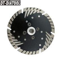 ДТ-DIATOOL 1шт 4.5 Алмазный отрезной диск с защитой косые зубы резьба М14 для камня Мраморный кирпич пилы диаметром 4,5/115мм