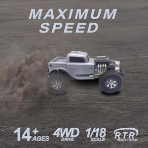 Image 2 - 1:18 4WD RC Auto Racing 2,4G Klassische Buggy Lkw High Speed Off road Fernbedienung Auto