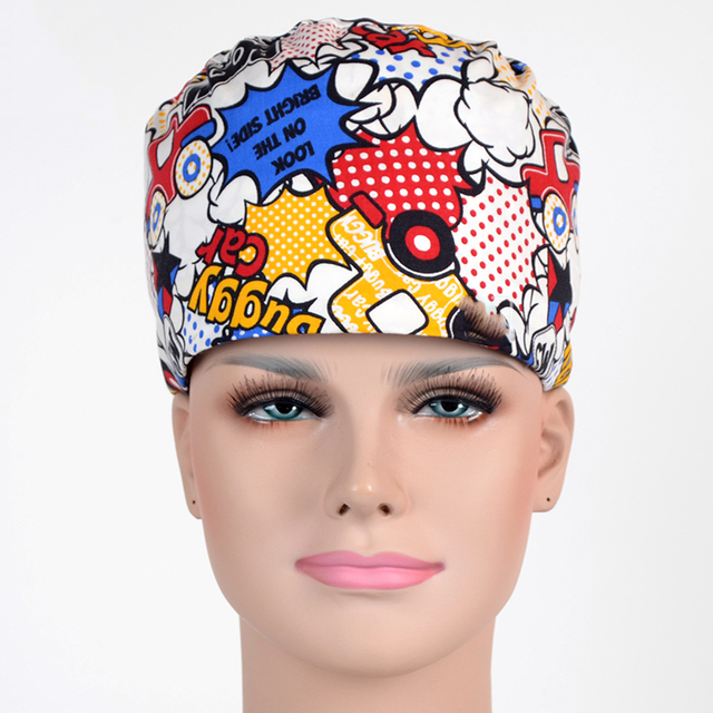 8ca96dbc67d Scrub Cap Surgical Hat Printable Skin Fabric Sewing Pattern Women and Mens  Boom Adjustable One Size fits all Ties in Back