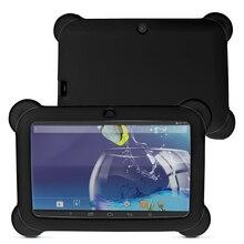 """Yuntab 7 """"A33 Quad Core 1.5 GHz Q88 Android4.4 Tablet PC Con Pantalla Táctil de 1024×600 de Doble Cámara con Funda de Silicona (negro)"""
