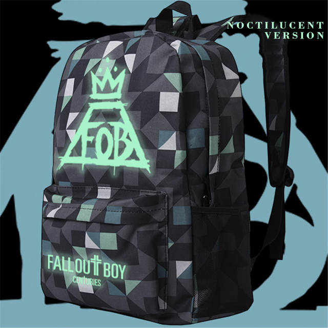 9d74da51a6 Zshop Anime Fall Out Boy Backpack Middle High School Students Bookbag  Schoolbag