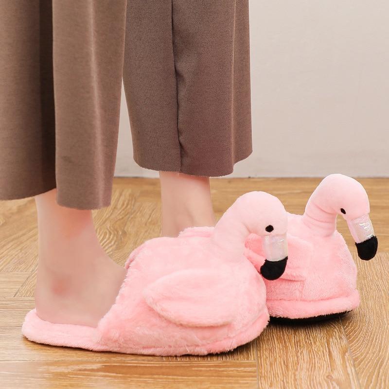 Chaud Coton A De Bande Pantoufles Furry Drôle Oiseau c Dessinée d Femmes Doux Unisexe b Couple Mignon Peluche Chaussures Animales En Hiver wOiulkTXZP