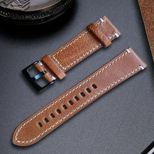 Pulseira de couro genuíno preto café marrom pulseira de relógio de couro para homens 18mm 20mm 21mm 22mm 24mm faixa de pulso