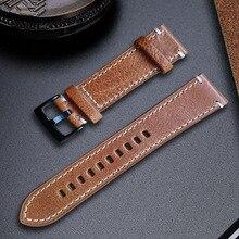 Watchbands עור אמיתי צמיד שחור קפה חום עור פרה שעון רצועת עבור נשים גברים 18mm 20mm 21mm 22mm 24mm להקת יד