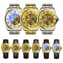 1 pc 2017 nouvelle mode hommes homme d'affaires montre-bracelet horloges heure creux Étanche Automatique Mécanique Montres cadeau H3